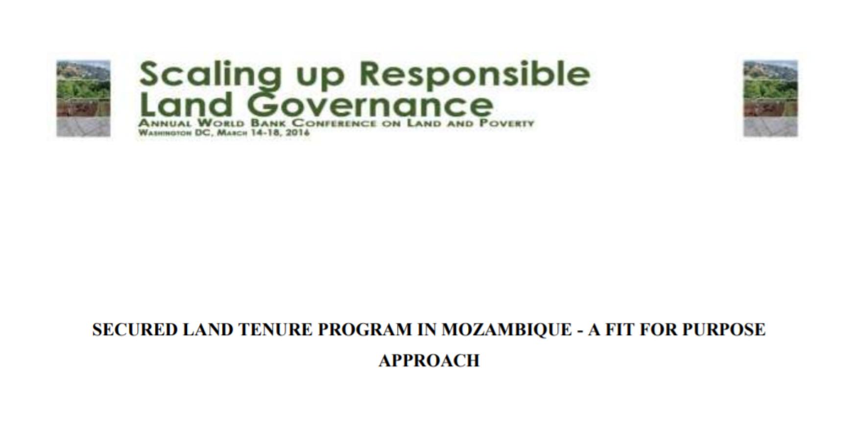 Programa de Terra Segura em Moçambique